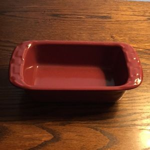 Longaberger Pottery Small Individual Loaf Pan